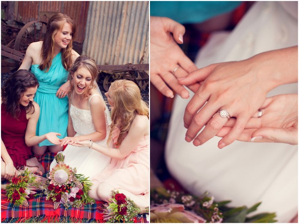 Rustic Mismatched Bridesmaids