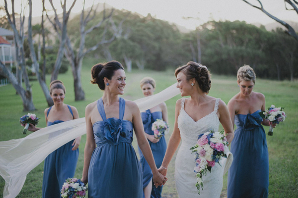Blue White & Pink Bridal Party NSW | Love Wed Bliss
