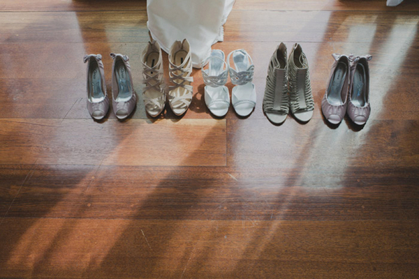 Mismatched Bridesmaid Shoes in Neutral Tones | Love Wed Bliss