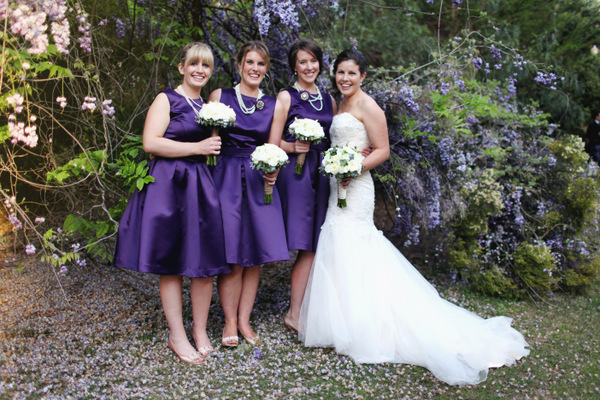 Purple Bridesmaids Tamworth Wedding | Love Wed Bliss
