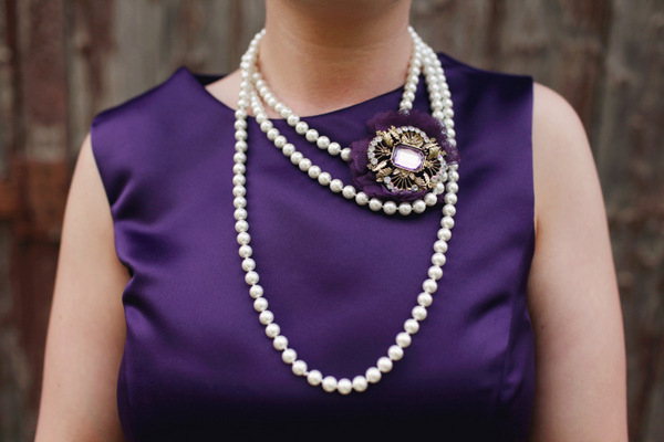 Purple Scottish Themed Bridesmaid | Love Wed Bliss