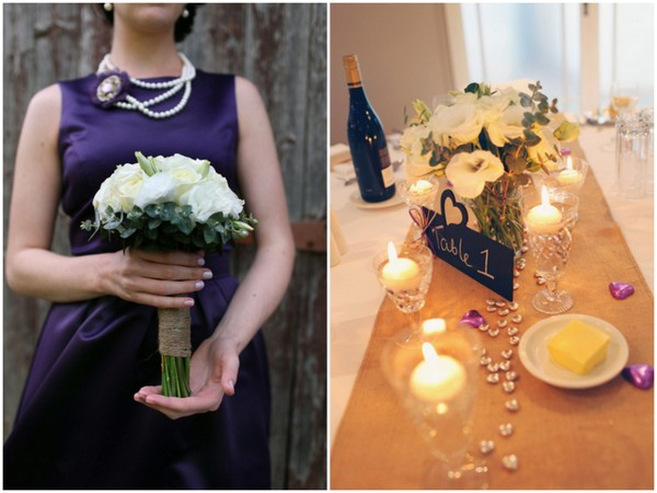 Purple & White Wedding in Tamworth | Love Wed Bliss