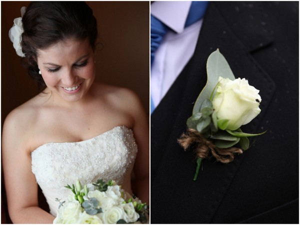 white rose buttonhole Tamworth Scottish Themed Wedding by Wanted Imagery