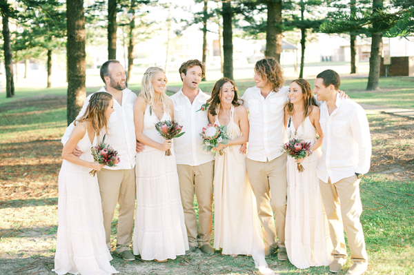 70s Bohemian Beach Wedding