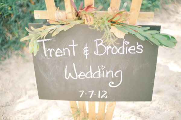 Beach Wedding Chalkboard Sign