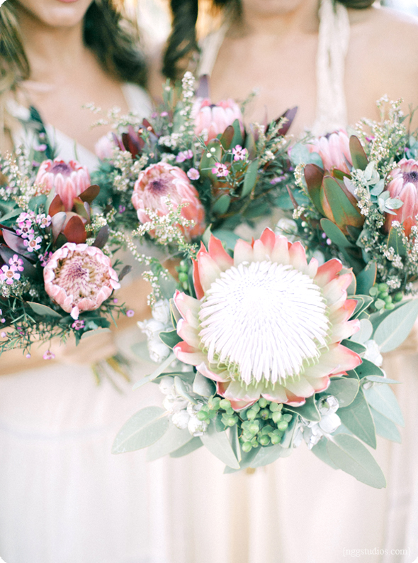 Pink Australian Native Wedding Bouquets