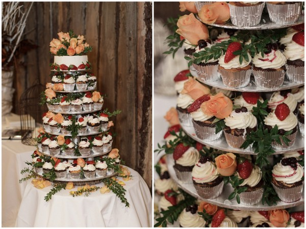 Winter Country Wedding Cake