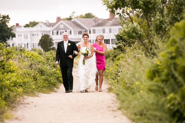 beach wedding marthas vineyard 7 Marthas Vineyard Lighthouse Ceremony and Tented Outdoor Reception by Femina Photo + Design