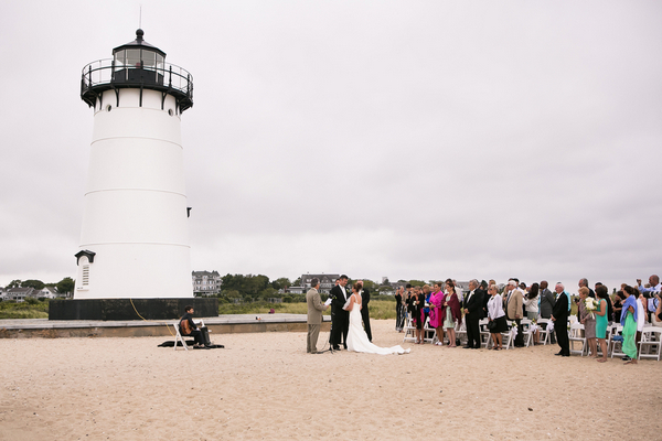 marthas vineyard beach wedding 9 Marthas Vineyard Lighthouse Ceremony and Tented Outdoor Reception by Femina Photo + Design