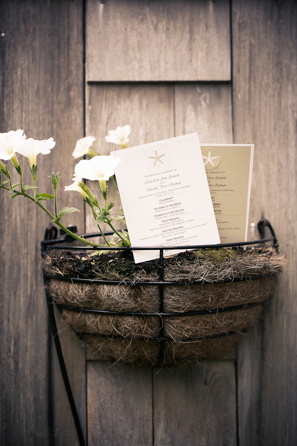 marthas vineyard wedding invitations 4 Marthas Vineyard Lighthouse Ceremony and Tented Outdoor Reception by Femina Photo + Design