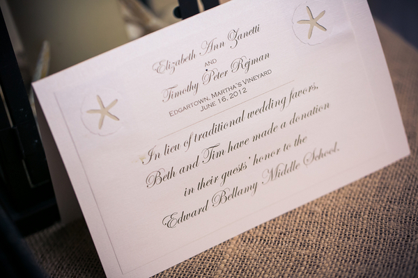 marthas vineyard wedding stationery 5 Marthas Vineyard Lighthouse Ceremony and Tented Outdoor Reception by Femina Photo + Design
