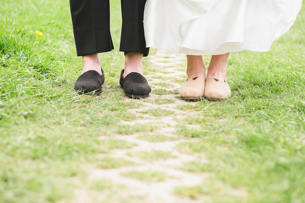 Bride and Groom Toms Shoes