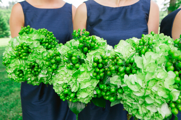 Navy and Apple Green Wedding