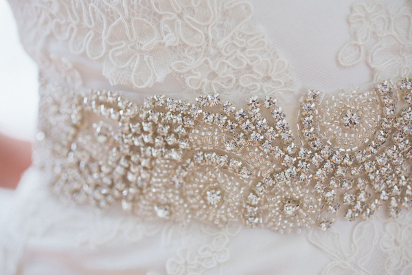 Statement Diamente Belt on Wedding Dress