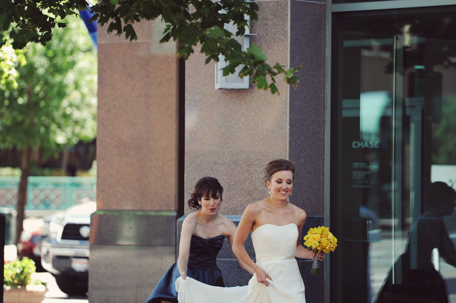 boise idaho wedding Teal and Yellow Casual Affair at The Rose Room Boise Idaho
