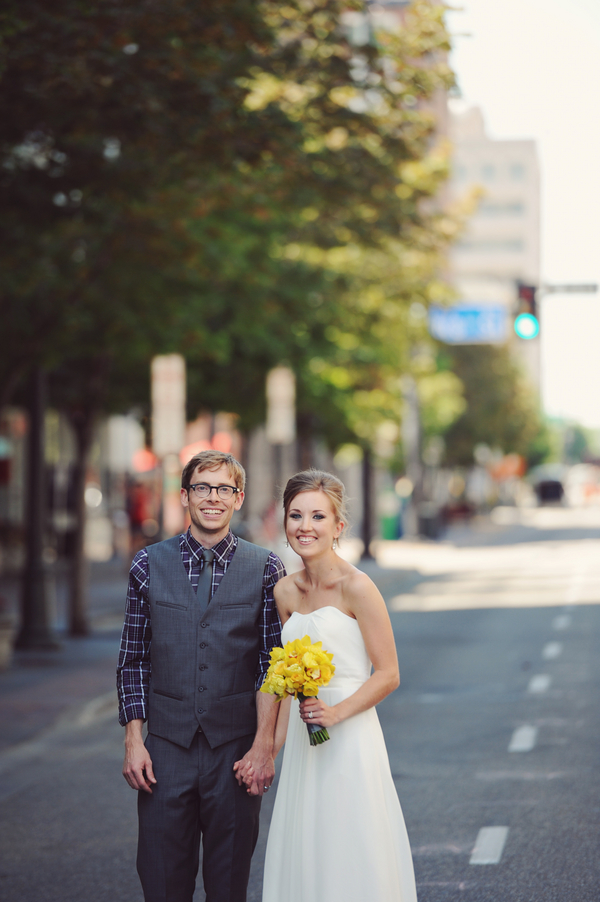 casual wedding boise idaho Teal and Yellow Casual Affair at The Rose Room Boise Idaho