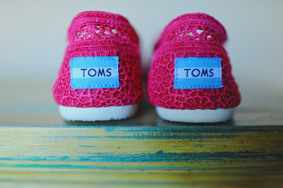 Hot Pink Crocheted Toms