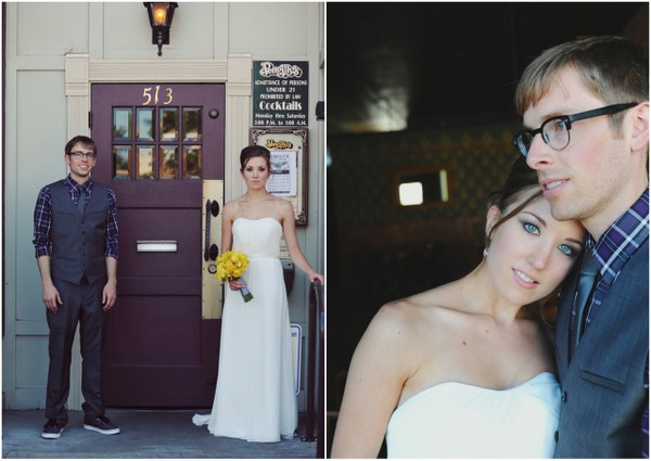 idaho casual wedding Teal and Yellow Casual Affair at The Rose Room Boise Idaho