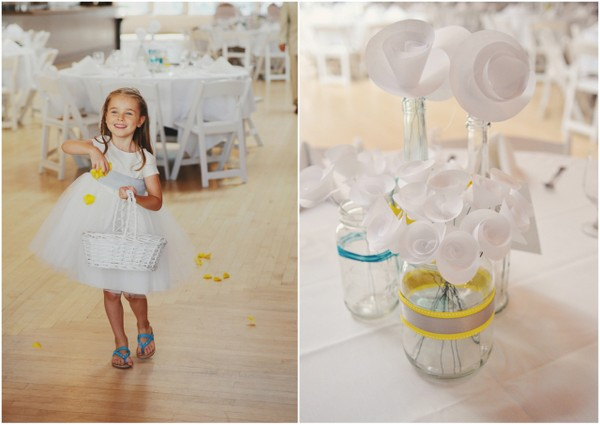 Teal and Yellow Wedding Decor