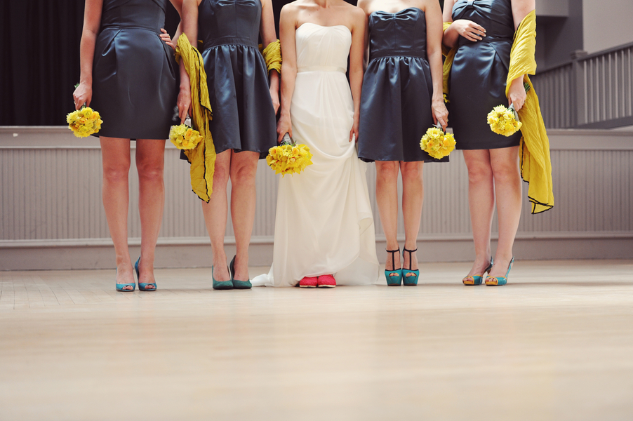 teal and yellow wedding Teal and Yellow Casual Affair at The Rose Room Boise Idaho