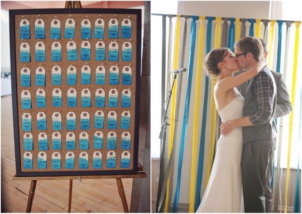 Yellow and Teal Wedding Decorations