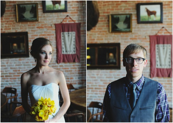 Teal and Yellow Wedding at The Rose Room Boise Idaho