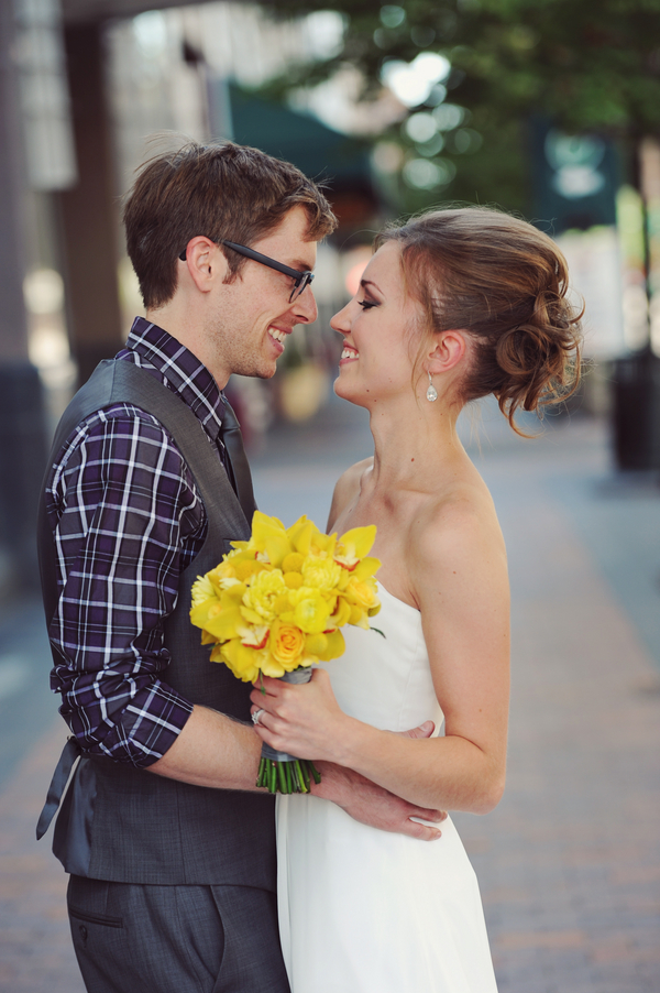 yellow and teal wedding theme Teal and Yellow Casual Affair at The Rose Room Boise Idaho