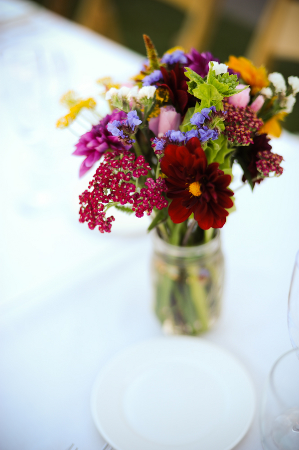 organic floral wedding centerpiece Indian Jewish Wedding from Bellalu Photography