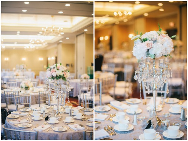 Elegant Pastel Wedding Reception