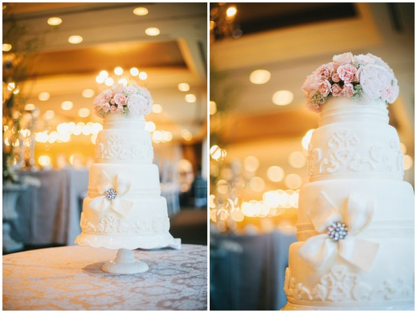 Wedding Cake Pastel Florals