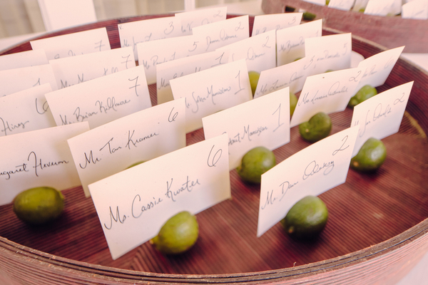 Lime Escort Cards Key West Wedding