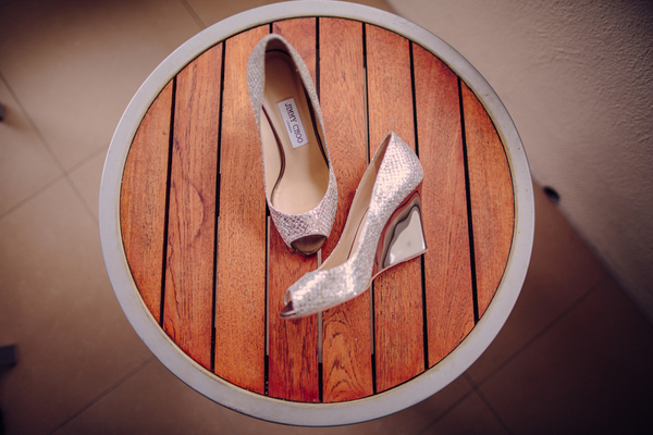 Silver Jimmy Choos Florida Wedding