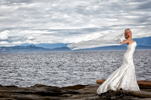 Beach Bridal Photos Vancouver Island