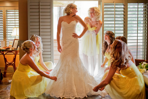 Yellow and White Wedding Palette