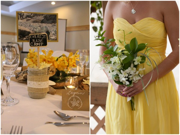 Yellow & White Beach Wedding