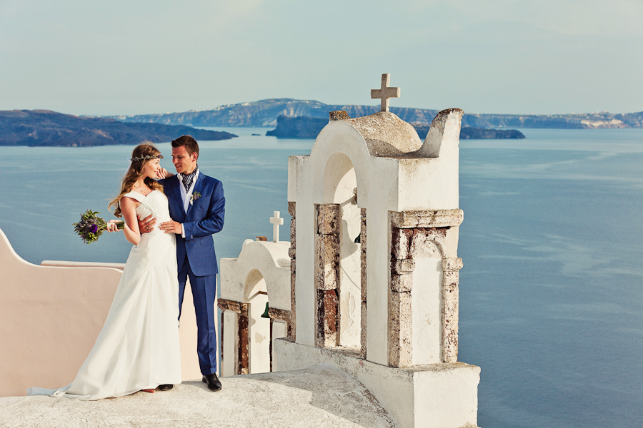 Destination Wedding in Santorini