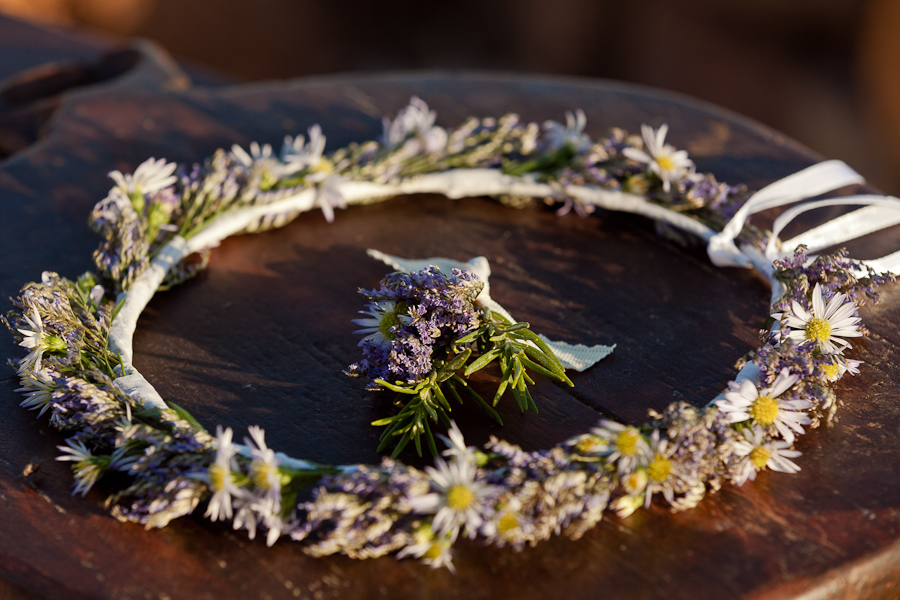 Rustic Bridal Hair Wreath