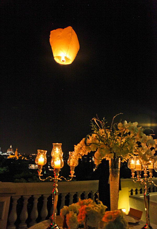 Chinese Wedding Lantern in Florence Italy