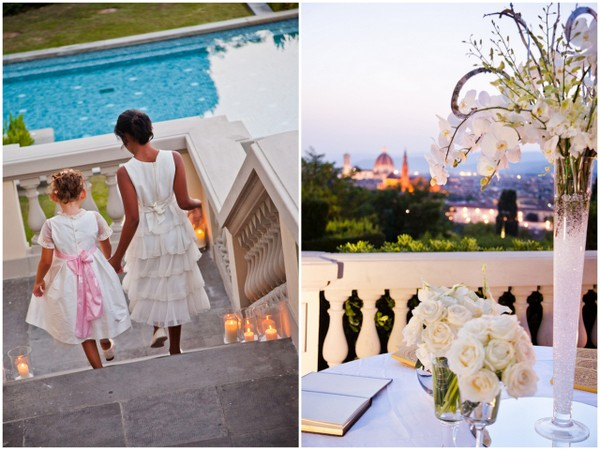 villa lave detta hotel florence wedding White Lace & Crystals Wedding in Florence Italy
