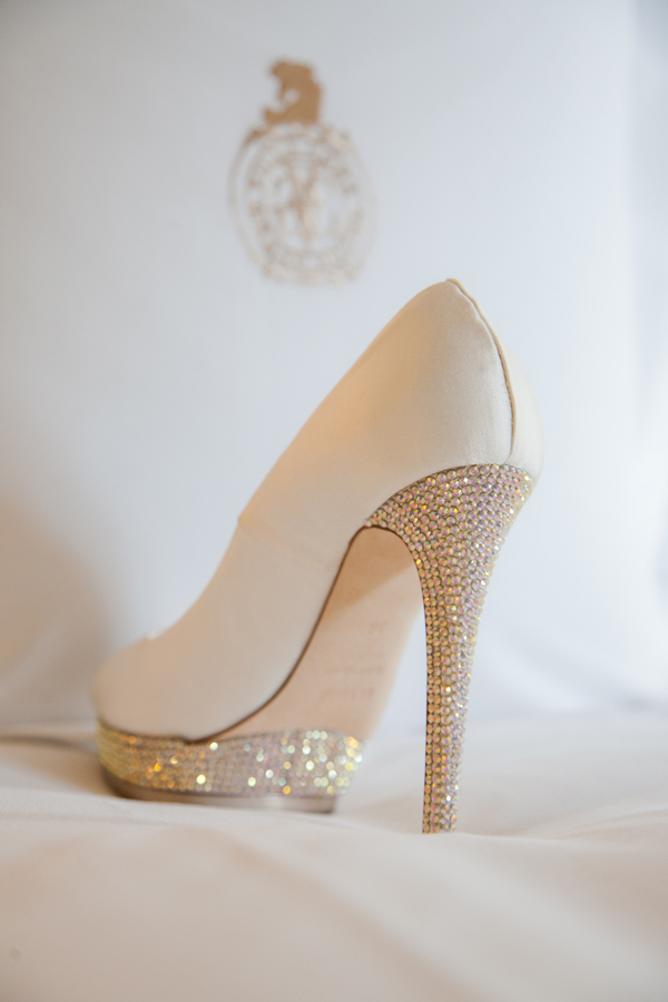 White Rhinestone Wedding Shoes