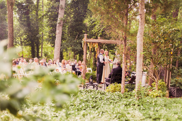 Backyard Garden Wedding Ceremony