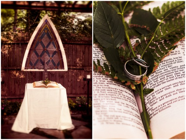Backyard Wedding Altar