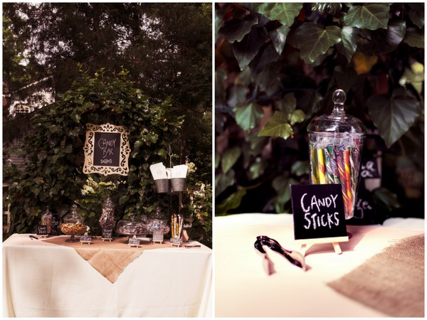 DIY Garden Wedding Candy Buffet