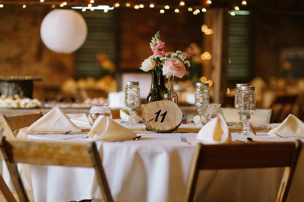 DIY Barn Wedding Reception