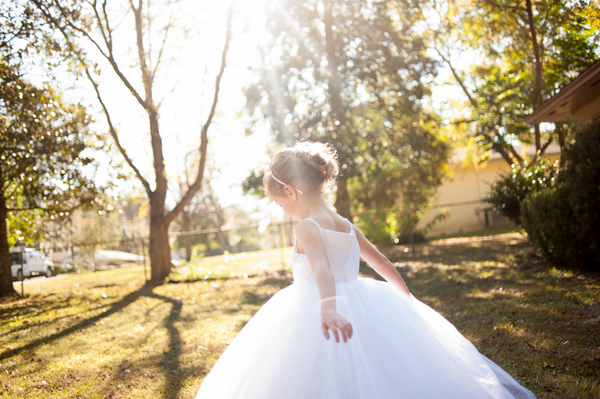 Flower Girl at Florida Wedding