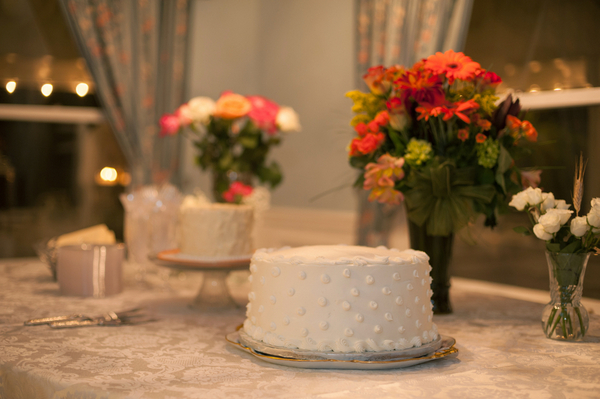 simple diy cake buffet table Pinterest Inspired DIY Wedding From Jordan Weiland Photography