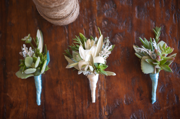 DIY Vineyard Wedding Boutonnieres