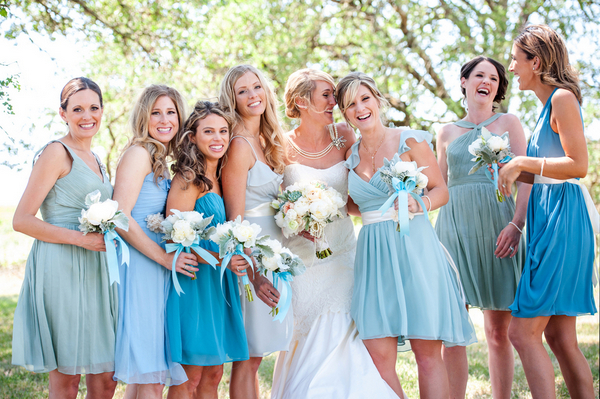 Wine Country Wedding Bridesmaids
