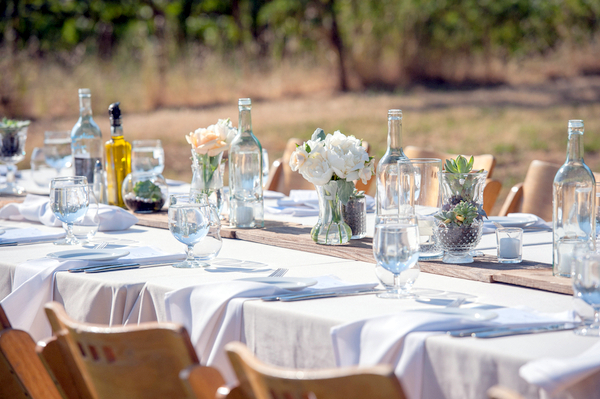 Wine Country Wedding Reception DIY