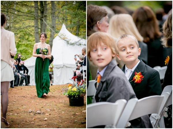 outdoor forest ceremony Outdoor Forest Wedding on the Connecticut River